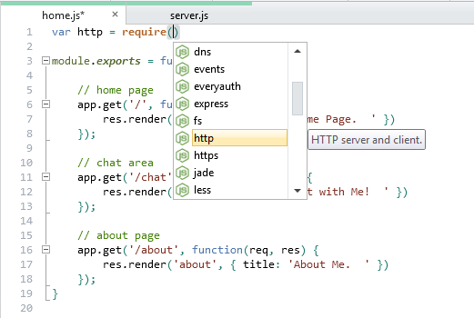 WebMatrix provides IntelliSense that makes it easier to get started