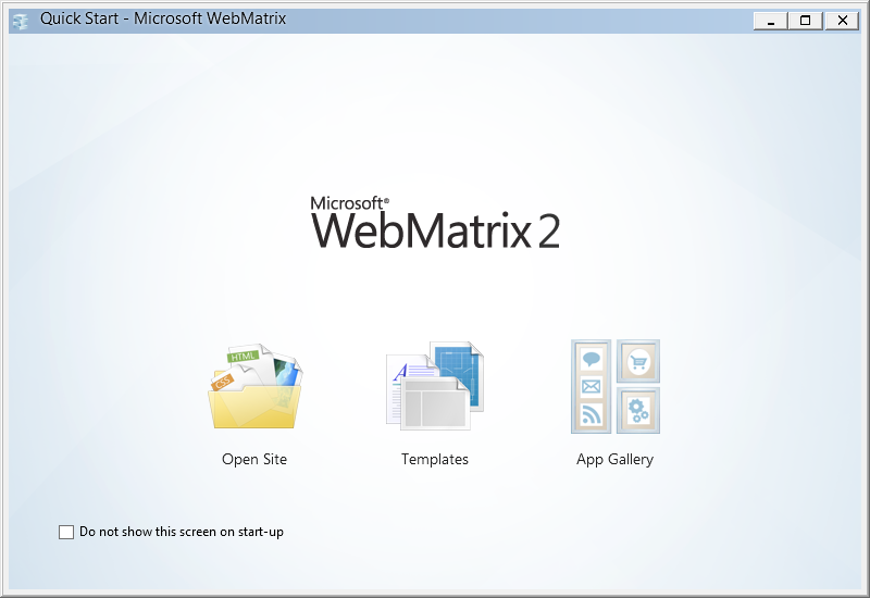 Welcome to WebMatrix