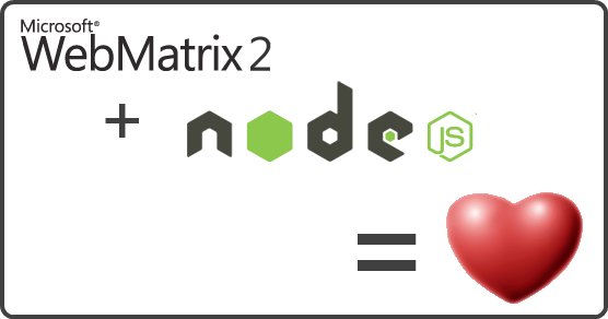 WebMatrix 2 + Node.js = love