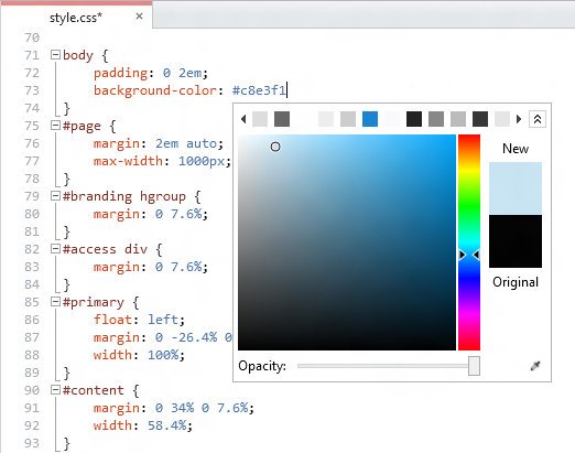 The CSS Color Picker